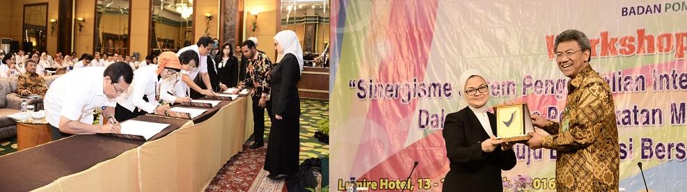 Workshop Sistem Pengendalian Intern Pemerintah dan Penandatanganan Nota Kesepahaman antara BPOM & BPKP, Jakarta - 13 September 2016