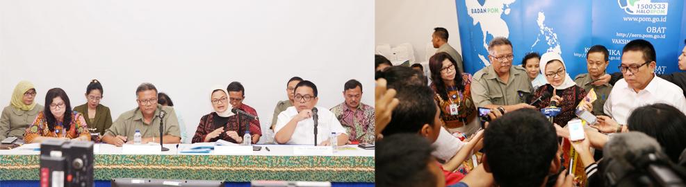 Konferensi Pers dalam Menindaklanjuti Peredaran Produk Makanan Ringan/Snack �Bihun Kekinian�, Jakarta - 8 Agustus 2016