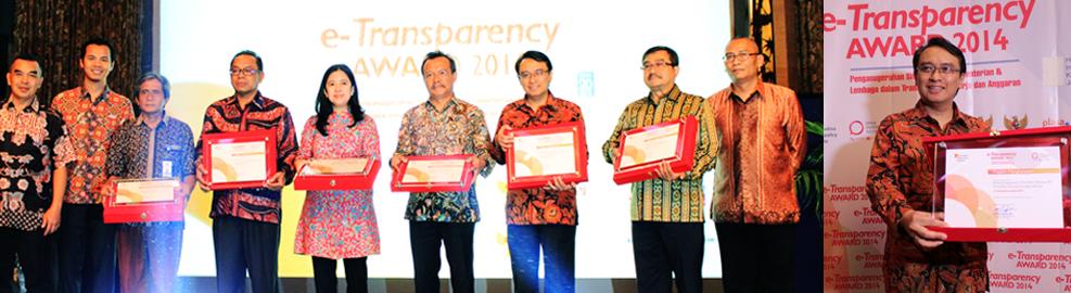 Badan POM Meraih Peringkat ke-5 Dalam e-Transparency Award 2014 - Jakarta, 20 November 2014