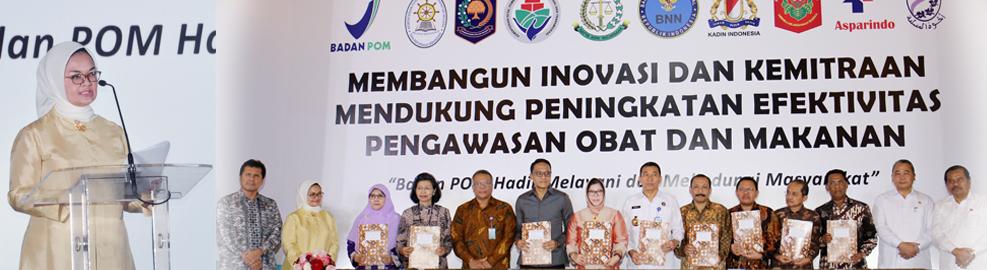 """HUT Badan POM ke-16 """"Membangun Inovasi dan Kemitraan Mendukung Peningkatan Efektivitas Pengawasan Obat dan Makanan"""", Jakarta - Februari 2017"""
