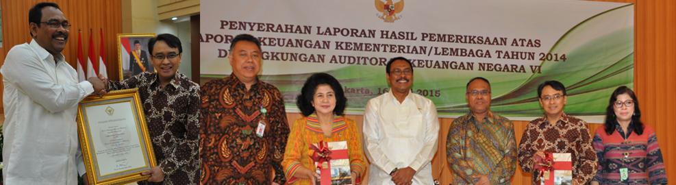 Badan POM Berhasil Meraih Opini WTP (Wajar Tanpa Pengecualian) dari BPK - Jakarta, 16 Juni 2015